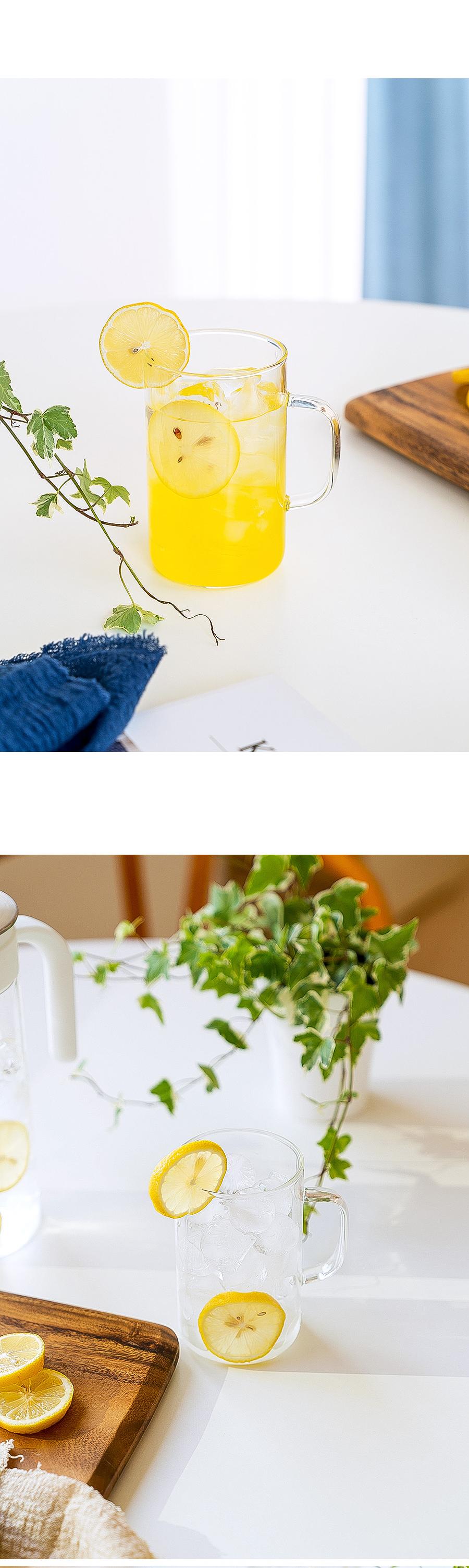 가볍고 예쁜 베이직 내열유리 손잡이 머그컵 500ml - 넥스코, 7,900원, 유리컵/술잔, 유리컵